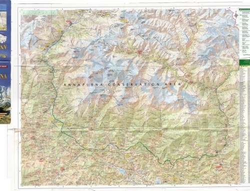 Annapurna region map in high resolution