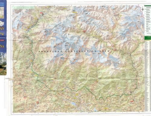 Annapurna region map in high resolution
