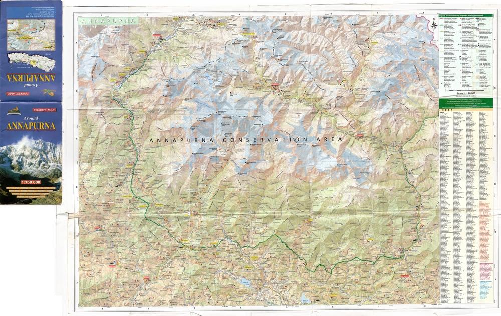 Annapurna region map in high resolution | Canicula
